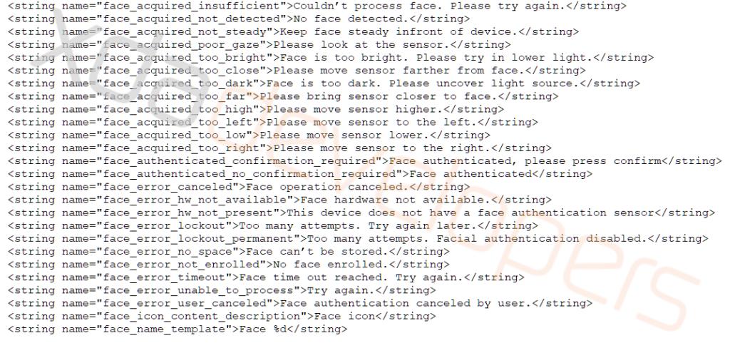 Android-Q-Face-Unlock-Framework-Code