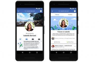 Разделът Tributes на Facebook събира спомени от хора, които вече са починали