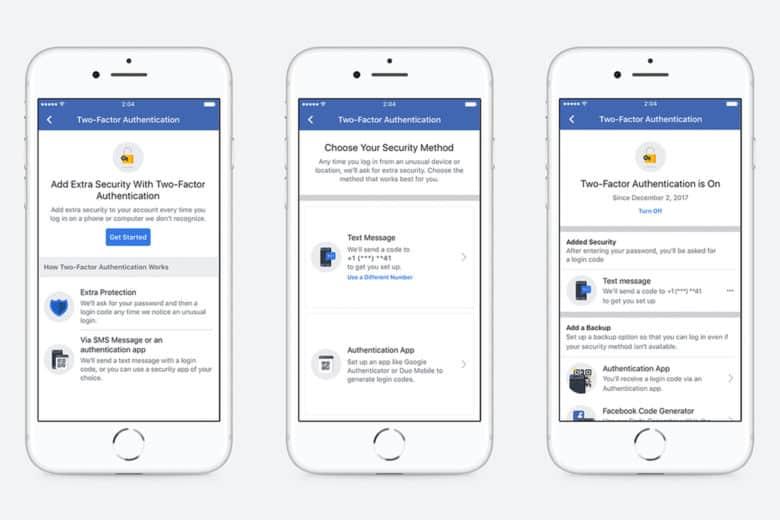 Двуфакторното удостоверяване във Facebook вече не се нуждае от телефонен номер