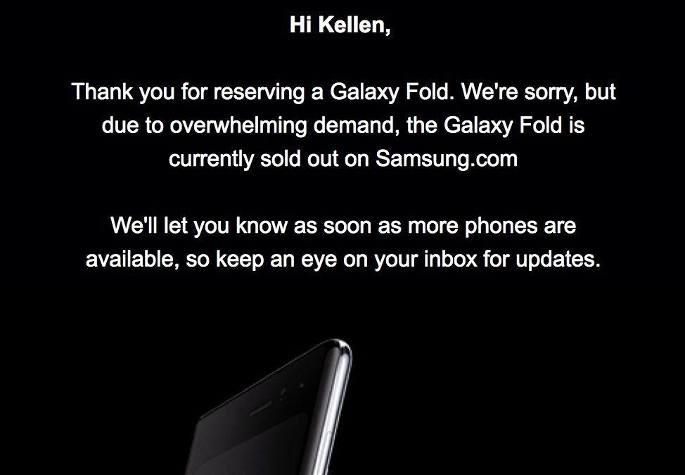Samsung Galaxy Fold се разпродаде поради голямото търсене