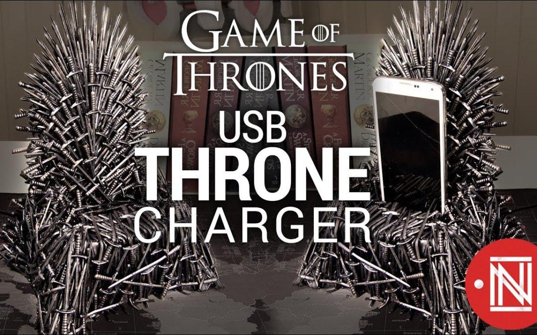"""Видео: Как да си направим настолно зарядно в стил """"Game of Thrones""""?"""