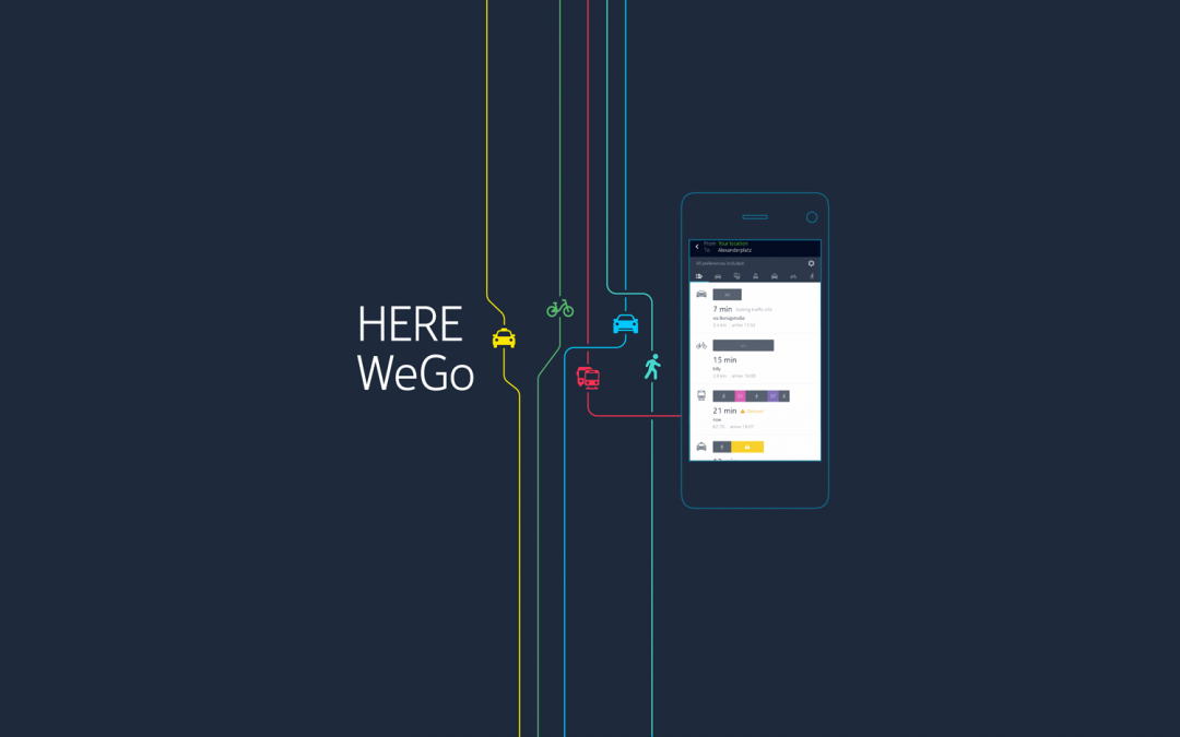HERE Maps вече се нарича HERE WeGo
