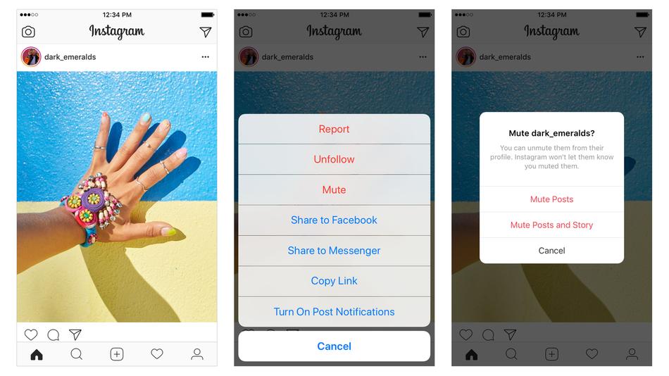 Instagram вече ви позволява да заглушавате профили, като продължавате да ги следвате