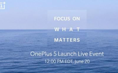OnePlus 5 ще бъде представен на 20 юни