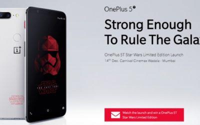 Лимитираната версия OnePlus 5T Star Wars ще дебютира в Индия