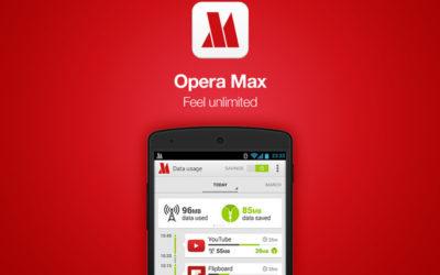 Opera Max беше свалена от Google Play