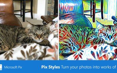 Microsoft актуализира своето фото приложение за iOS, Pix с художествени филтри