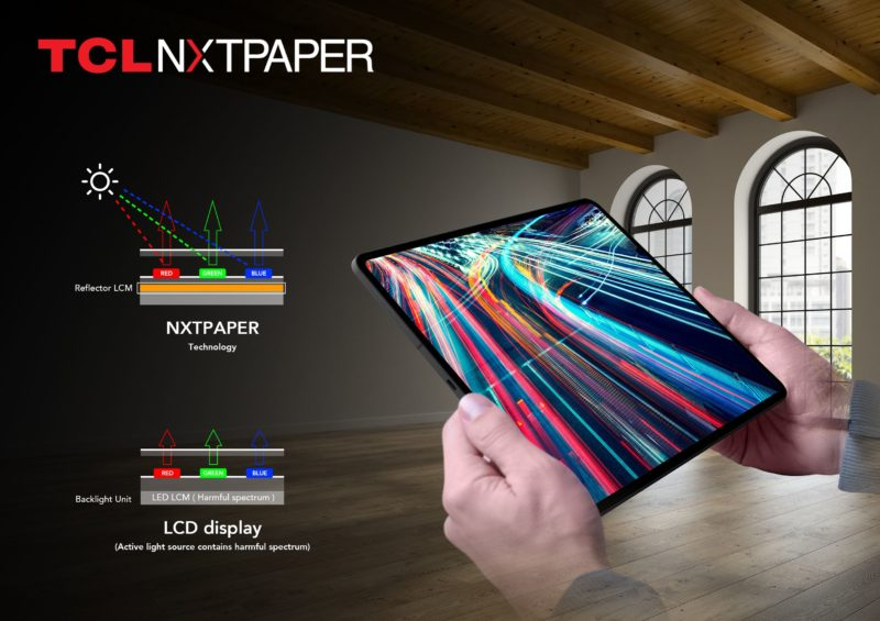 TCL анонсира два таблета с NXTPAPER Technology