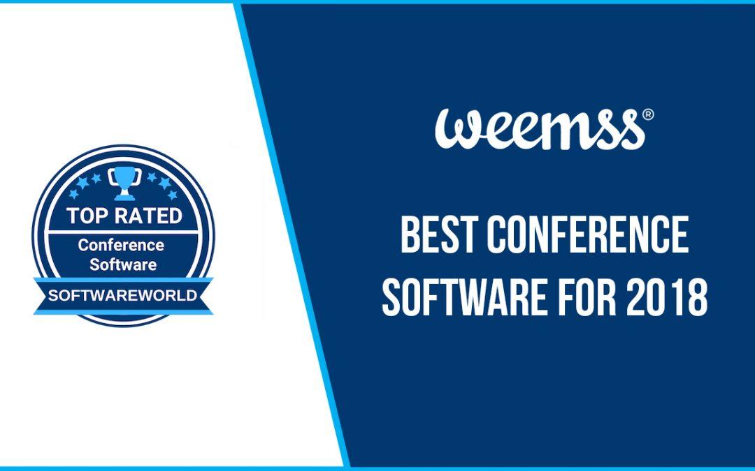 Weemss сред топ софтуерите за конференции за 2018 г.
