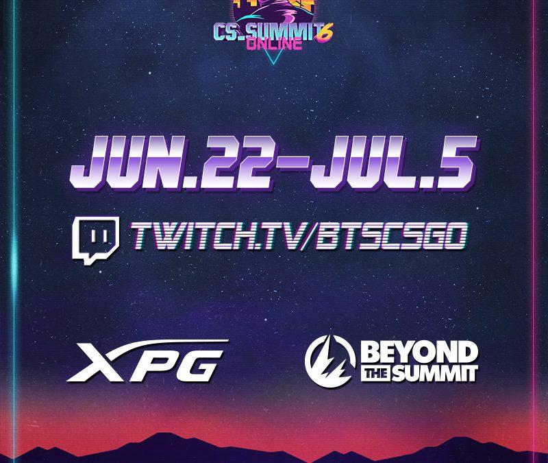 XPG става официален спонсор на CS_SUMMIT 6