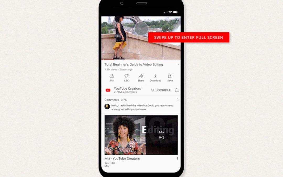 Мобилното приложение на YouTube получава нови жестови контроли за възпроизвеждане