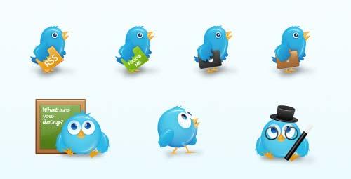 Birdies Twitter Icon Set