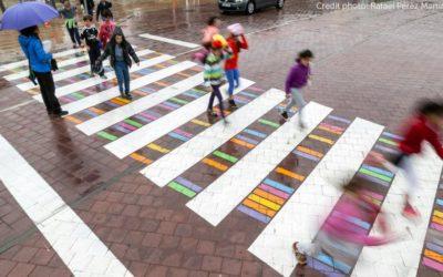 Българин превърна пешеходните пътеки в Мадрид в картини