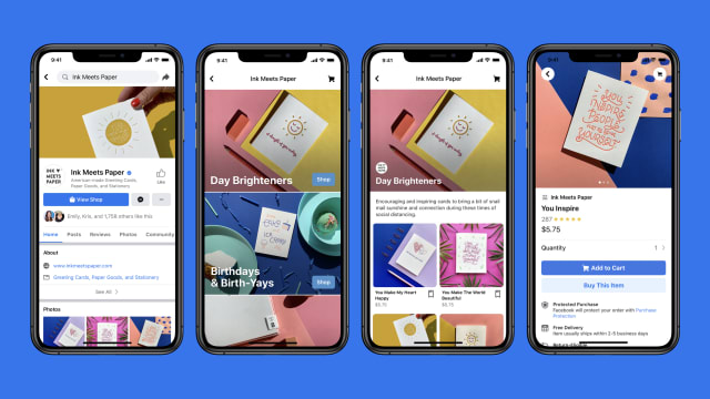 Facebook Shops превръща бизнес страниците в онлайн магазини