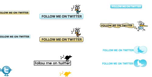 Free Twitter Buttons in Vector Format