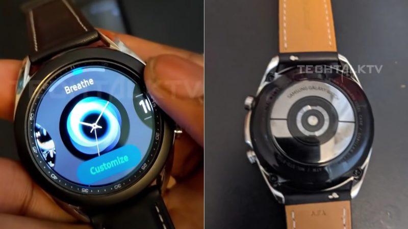 Видео показва въртящата се рамка на Galaxy Watch 3 в действие