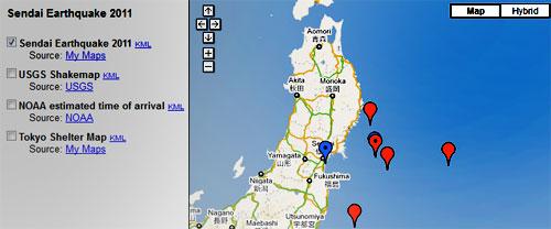 Google Crisis Center и земетресението в Япония