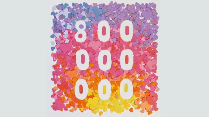 instagram-800M