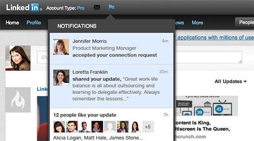 Facebook и Google+ не ви стигат? И LinkedIn добави известия.