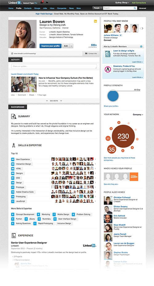 Видяхте ли новия дизайн на профилите в LinkedIn?