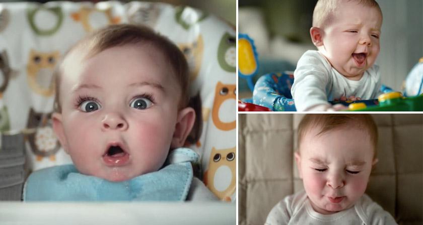 Съкровени бебешки емоции в новата реклама на Pampers
