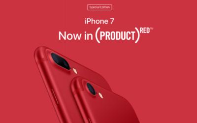 Apple представи червен iPhone 7