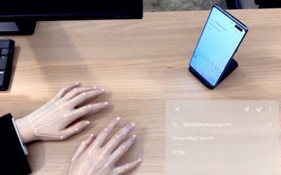 Samsung създаде невидима клавиатура за телефони, задвижвана от AI