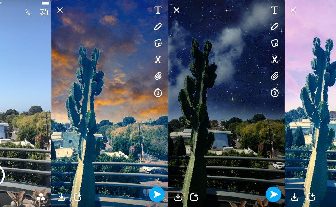 Най-новата функция на Snapchat за добавена реалност ще ви позволи да изрисувате небето с нови филтри