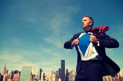 superhero-businessman