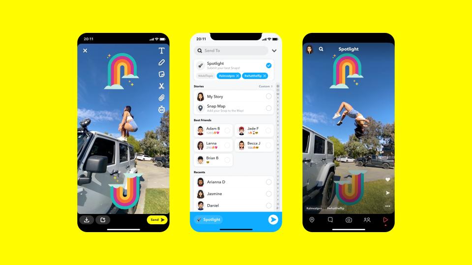Snapchat стартира Spotlight