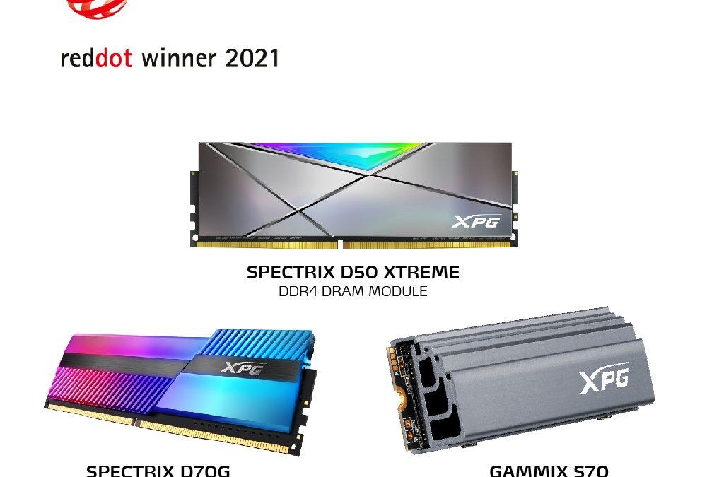 XPG с три награди от Red Dot Award