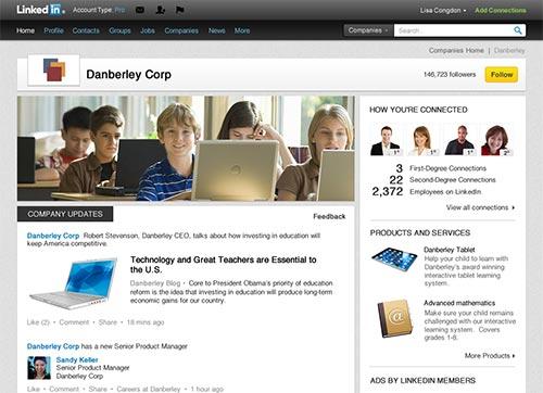 Видяхте ли новия дизайн на фирмени страници в LinkedIn?